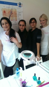 Maria, Namita, Shila & Rebecca are the latest therapists to complete their salon training techniques at Beauty Training Harrow