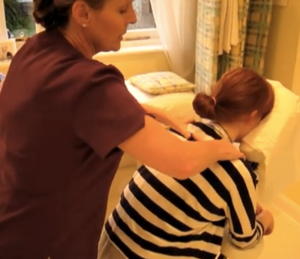 Yvonne's professional chair massage has now received nearly 76,000 hits on YouTube!