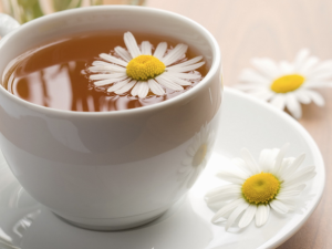 Chamomile tea has natural soothing qualities and therefore great for calming problem skin