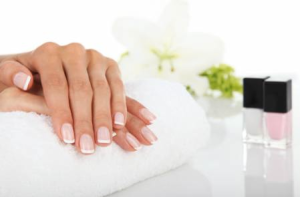 Luxury manicure including paraffin wax to soften dry, chapped skin